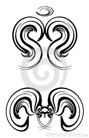 Abstract Angel Tattoos