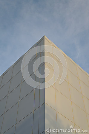 Abstract angle of office building