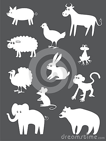 Abstract animals