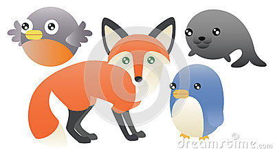 Abstract Animals Set
