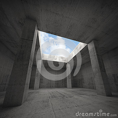 Free Abstract Architecture, Dark Concrete Room Interior Stock Photography - 53826762