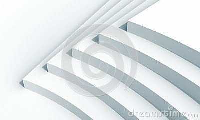 Abstract architecture fragment with five stairs