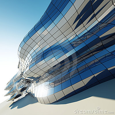 Abstract architecture wall
