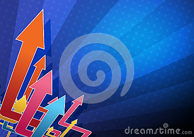 Abstract arrow background design