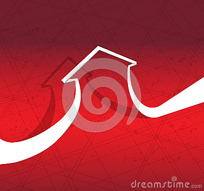 Abstract arrow for business concept idea