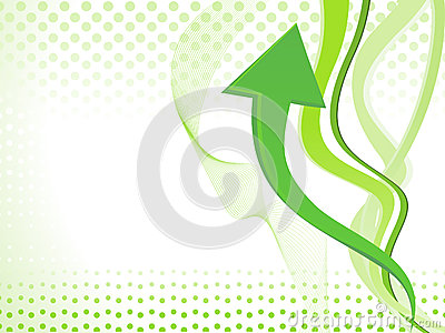 Abstract arrow wave background