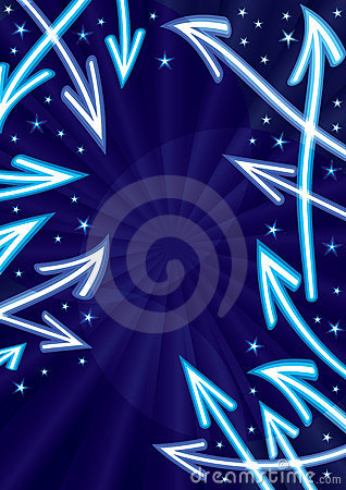 Free Abstract Arrows Stars Space_eps Stock Photos - 19787193