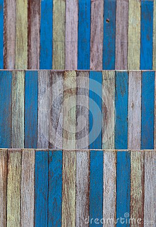 Abstract art color wood wall