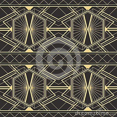 Free Abstract Art Deco Modern Tiles Pattern. Royalty Free Stock Image - 109615706