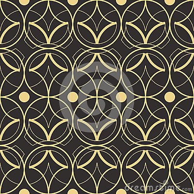 Free Abstract Art Deco Seamless Pattern 02 Stock Image - 117238391