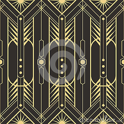 Free Abstract Art Deco Seamless Pattern Stock Images - 94485634