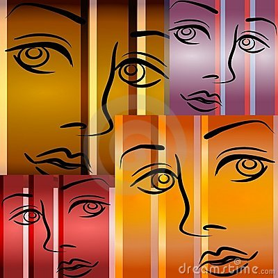 Free Abstract Art Female Faces Royalty Free Stock Photography - 2892447