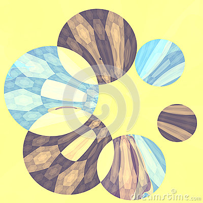 Abstract Artistic Blue Flower Spinner