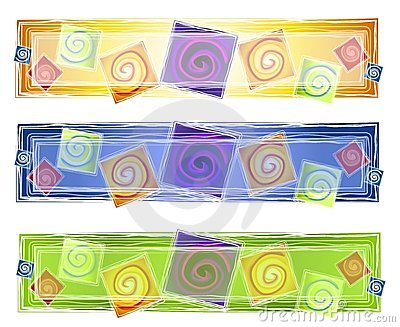 Abstract Artistic Spirals Logo Royalty Free Stock Photos - Image: 3416948