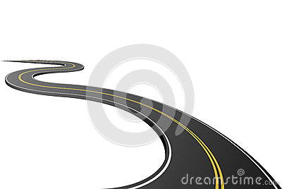 Abstract asphalt road