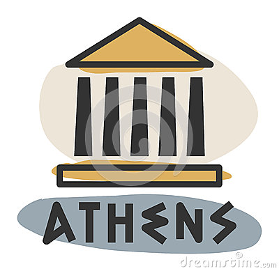 Abstract Athens icon