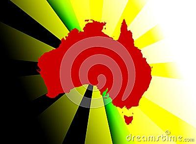 Abstract Australian illustration