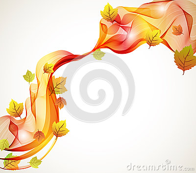 Abstract autumn background with wave