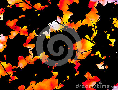 Abstract autumn composition