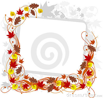 Abstract autumn floral background