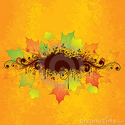 Abstract autumn graphic