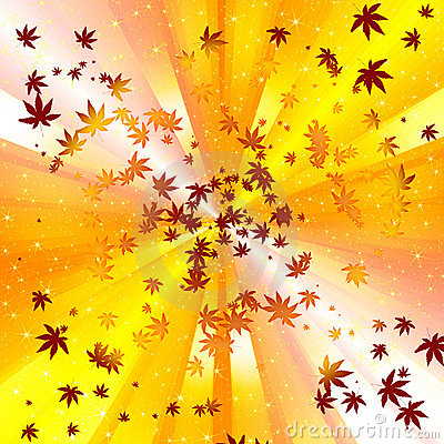 Abstract autumn leave spiral background