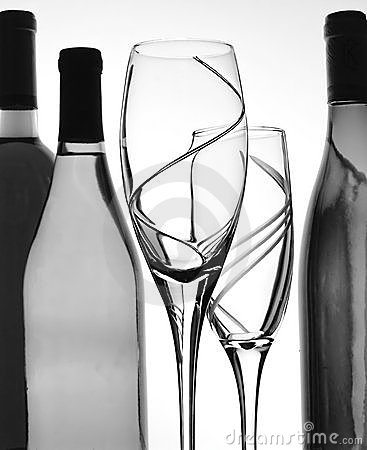Abstract B&W Wine Background