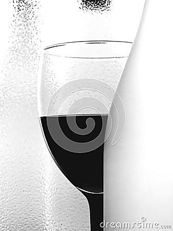 Abstract B&W Wine Glassware Design