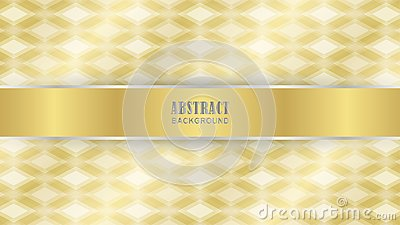 Gold diamond pattern as background Vector Illustration