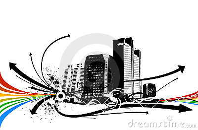 Abstract background architectural vector