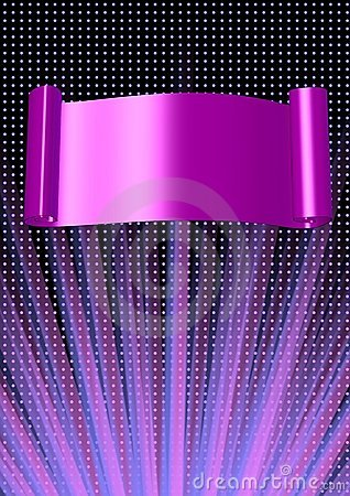 Abstract background with banner and shine