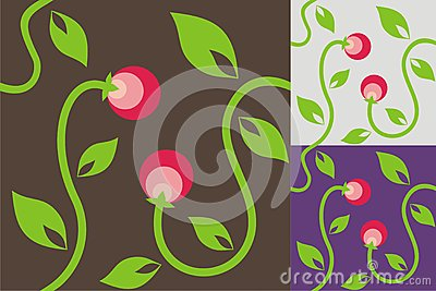 Abstract background with berries