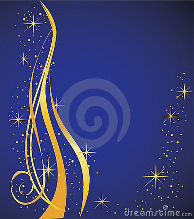 Abstract background, blue and gold