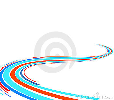 Abstract background with blue and red lines