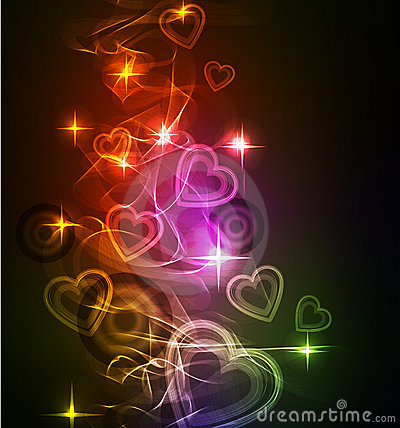 Abstract background with bright beautiful heart