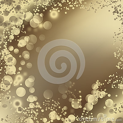 Abstract background with bright bubbles