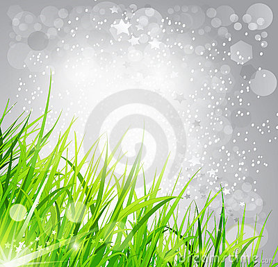 Abstract background bright: the grass on a gray