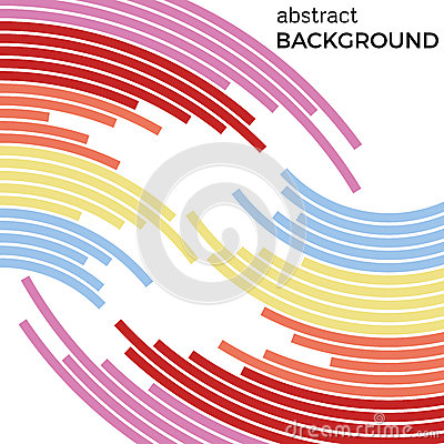 Abstract background with bright rainbow colorful lines. Vector Illustration