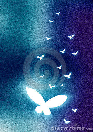 Abstract Background butterfly
