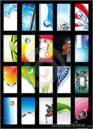 Abstract Background Card Collection - Set 1