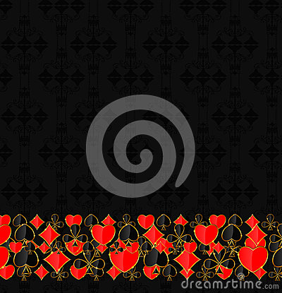 Abstract background with card suits for design.