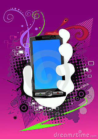 Abstract background and cell phone