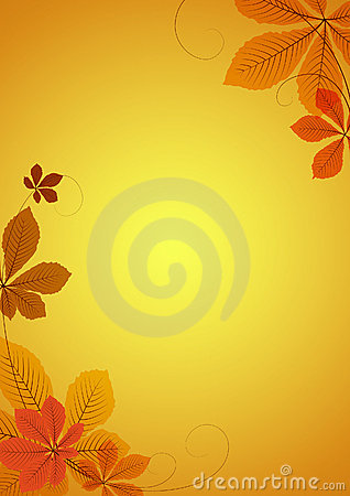 Abstract background with chestnut leaves