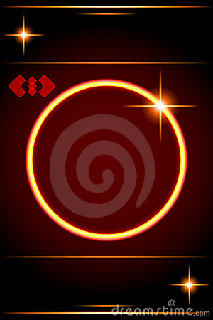 Abstract background-Circle Border with lens star.