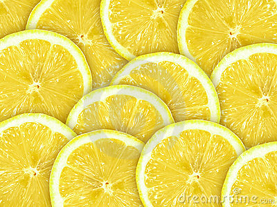 Abstract background with citrus-fruit of lemon