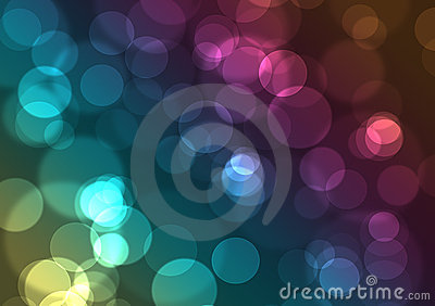Abstract background of city colorful night lights
