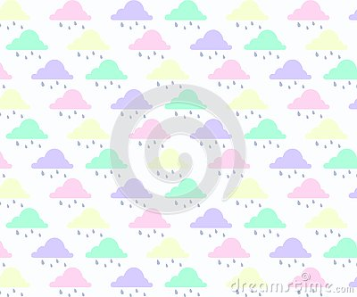 Abstract background with cloud ,sky and star in pastel color. Vector Illustration
