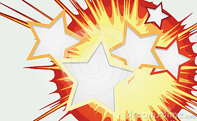 Abstract background of color star burst.