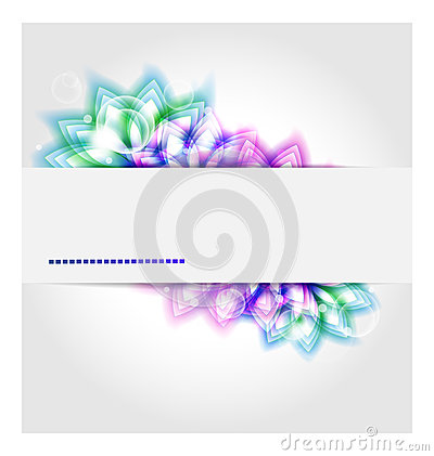 Abstract background with colored flower elements