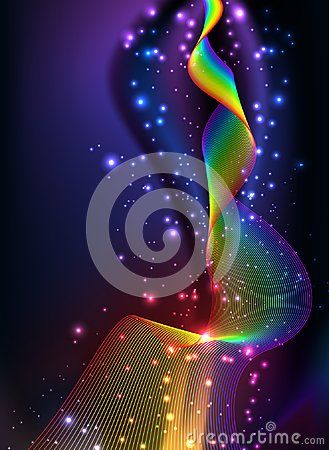 Free Abstract Background Colorful Rainbow Wave Wallpaper Royalty Free Stock Image - 103141906